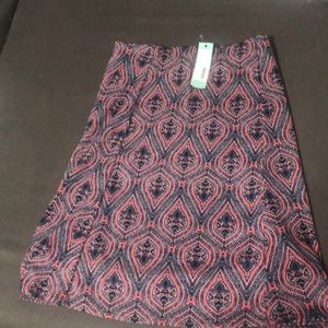 Renee C Navy Blue and Corral skirt